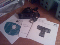 Logitech C910, Electronics, Logitech C 910, 2011, C 910 webcam including disk and owners manual.