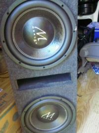 Merlon m3 12inch subwoofers, Electronics, Merlon m3, 2012, Good 12inch subwoofers in box , Cricket