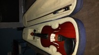 Violin, Musical Instruments, Equipment, Grosses lied Missing E String Has Bow And Case