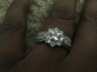 Ring, Jewelry, Sliver diamonds, Sliver with purple stones and diamonds going around it