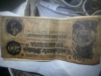 Confederate money, Other, 500 dollars confederate states of America