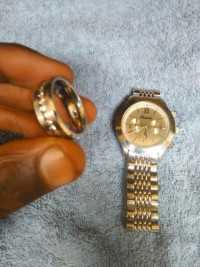 Rolex and ring , Jewelry, unknown weight , Rolex 14k &  14k ring stamped , paid $1,200 - Al W