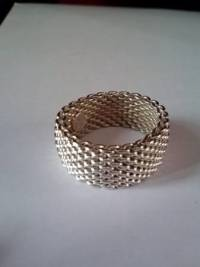 Authentic Tiffany Somerset Mesh Dome Ring, Authentic Tiffany Somerset Mesh Dome Ring.like new, Like new