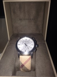 Burberry watch, model number bu9360, Like new