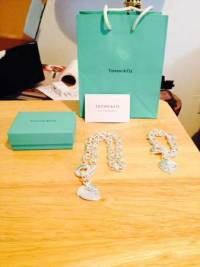 Tiffany's Gift Set , Tiffany's Necklace and Bracelet with Gift Bag and Box.like new, Like new
