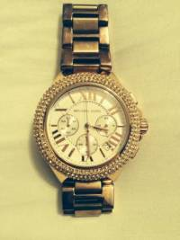 Michael Kors Woman's Rose Gold Watch, Michael Kors Woman's Rose Gold Watch like new, Like new