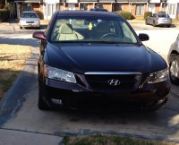 Car, Hyundai sonata 06 maroon , Gently used