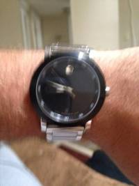 Movado watch, Black faceMovado watch in good codition, Like new