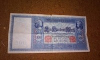 a Riechs banknote, Berlin currency, (uncirculated) the note is dated april 1910, Used, worn
