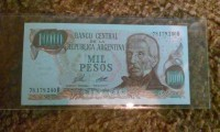1000 mil pesos Banco central de la republica Argentina , Uncirculated foriegn currency , Like new