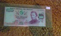 1000 mil pesos del Uruguay , Uncirculated foriegn currency , Like new