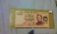 1000 mil pesos banco central del Uruguay , Uncirculated foriegn currency , Like new