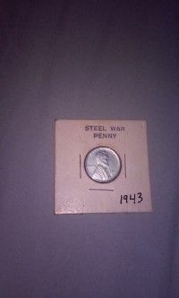 1943 US steel war penny , Limited amount of these coins made, Like new