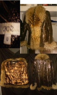 Leather and fur jacket purchased from Cache for $1800 , Leather and fur jacket purchased from Cache at South Coast Plaza for $1800. Size small. Perfect condition. Worn 3x.