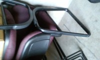 chairs, 4 Burgundy soft seat and soft back waiting chairs or office chairs