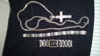 Diamond cross necklace, bracket and citizen watch, Diamond cross neclace, citizen watch with Diamond, diamond cut bracelet