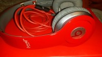 Dre beats solo HD headphones, Red solo HD beats still in the original box all owners manuals