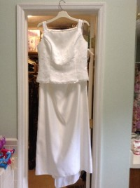 Vintage Jessica McClintock wedding gown, Never worn (Tags still attached) 2-piece Jessica McClintock wedding gown size 12.