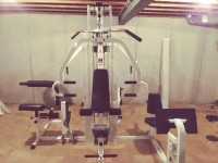 Tuff gym 250, Tuff gym 250... Its a four station work gym in perfect condition. It is all broke down for re- assembly.
