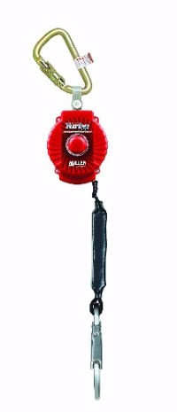 Miller MFL-1-Z7/6FT TurboLite 6-Foot Personal Fall Limiter with , 493-MFL-1-Z7/6FT Features: -Built-in swivel prevents lifeline from twisting. -Extremely compact and lightweight. -High-strength, impact-resistant nylon housing for maximum durability. -Rated for up to a 400 lb. (181.4kg). Product Type: -Safety Equipment. Dimensions: Overall Height - Top to Bottom: -3.75 Inches. Overall Width - Side to Side: -6.7 Inches. Overall Product Weight: -2.9 Pounds.