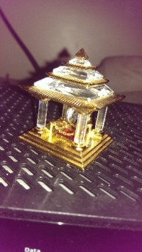 small gold japan temple, Small jewel trinket gold and Crystal. Japanese temple