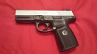 Smith and Wesson 40 caliber, Black Bottom and gun metal grey top Smith and Wesson 40 caliber