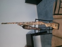 shotgun , 12 gage Benelli shotgun, Nova pump action. Never been shot before. Camoflauge. Also 3 cases of ammo as well. 750 rounds. I paid $779 for everything..make me an offer I have no need for the gun