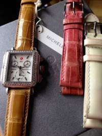 Authentic Michele Deco Diamond Swiss Watch Alligator Strap, Authentic Michele Deco Diamond Swiss Watch Alligator Strap. In excellent condition!! Comes in a Michele box that's shows in the picture!!!  , Like new