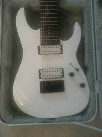 Ibanez RG8 Guitar w/ DiMarzio Ionizer 8 Pickup Set ,  Ibanez RG8 (White) 8-string guitar with upgraded DiMarzio Ionizer 8 Pickup Set., Near perfect