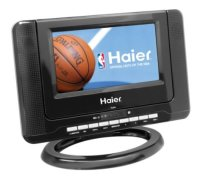 Haier HLTD7 7-Inch Handheld HDTV with Built-In DVD Player, Black, like new, comes with ac adapter and remote
