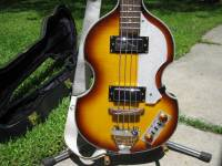 """Rogue VB100 series II Bass, This is a very light semi-hollow body and has 2 pick-ups and is 30"""" (short) scale., Like new"""