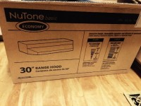 "Range hood , Nutone basic 30"" range hood. Black. Brand new. Still in box. Never been used."