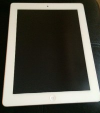Apple iPad, Apple iPad 2 16GB WiFi white; almost completely unused.                       Serial #:DMPGP9GRDKPH.     Model #:A1395