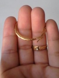gold engagement ring and earings, Engagement ring is 10k use by momom and earings are 14k still new