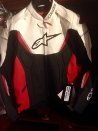 Alpinestars Leather GP-R Motorcycle Jacket , SIZE:54                                     1.3mm full-grain leather provides the optimum combination of durability, comfort and abrasion resistance