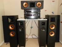 SUPER NICE HIGH END KLIPSCH & YAMAHA SYSTEM, THIS IS AN EXCELLENT SOUNDING SYSTEM THESE KLIPSCH REFERENCE SPEAKERS ARE AMAZING, Like new