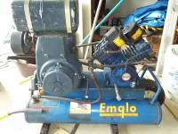 Emglo 8hp 4 lung gas air compressor, 8HP kohler gas engine 4 Lung Emglo compressor (Not one of those little toy single or dual lung compressors. This is a beast!) Wheelbarrow type , Like new