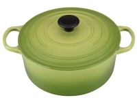 Le Creuset 5.5 qt Casserole Oven in Palm, This is a brand new, unused item in original packaging. It's from Le Creuset and is a enameled cast iron oven, 5.5 quart that retails for $400. The color is Palm.