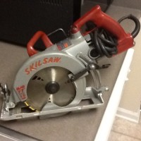 "Skilsaw SHD77M 71/4"" Worm Drive Saw, Skilsaw SHD77M 71/4"" Worm Drive Saw, used, fully functional, two tone"