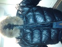 Authentic Leather Avirex Jacket, Avirex Jacket, Winter Coat, Black leather, Tan fur hood, leather gets better with age, 2XL