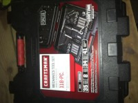 Craftsman 118 piece tool set , Craftsman 118 piece mechanics took set. Like new, barely used