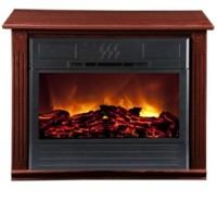 HEAT SURGE FIRELESS  FLAME FIREPLACE W/ GENUINE AMISH MANTLE, HEAT SURGE FLAMELESS FLAME FIREPLACE WITH GENUINE AMISH MANTLE - COLOR: CHERRY - PURCHASED FOR $350.00 - BOX WAS OPENED TO ENSURE CORRECT COLOR OF CHERRY RECEIVED BUT THE HEATER HAS NEVER BEEN REMOVED OR USED - STILL IN ORIGINAL BOX