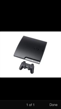 "Playstation 3 , I have a ""barely used"" playstation 3 slim console with 1 controller. Works like new. Cords included"