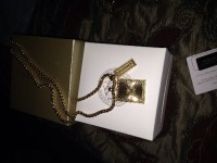 Versace necklace, Versace gold medusa head pendant dog tag 4850-DMTD_000003 999 D000