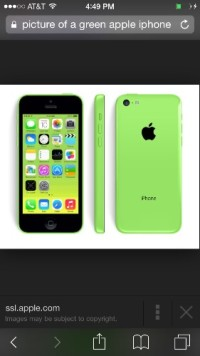 iPhone 5 c, iPhone 5c like new green