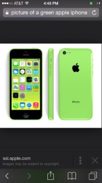 iPhone 5c green apple, Like new iPhone 5c green apple