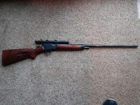 Winchester 22 long Rifle with scope, Gun, none, Winchester Model with scope