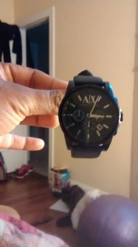 armani exchange watch, Luxury Watch, armani exchange, Black with leather straps