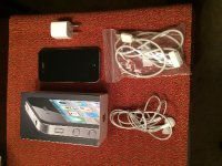 Iphone 4  16GB, Electronics, A1332 Apple IPhone 4 16 GB, Works perfect.  Clean wiped  AT&T .  Comes with box, stickers, cables, and earphone.