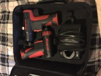 Snap on impact wrench and screwdriver , Tools, Equipment, Snap on 3/8 (10mm) impact wrench 7.2v model ct561 with battery and charger. In case with 1/4 screwdriver 7.2v model cts561cl with battery and charger